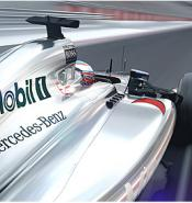 Mercedes Mclaren F1 car with Mobil1 sponsorship